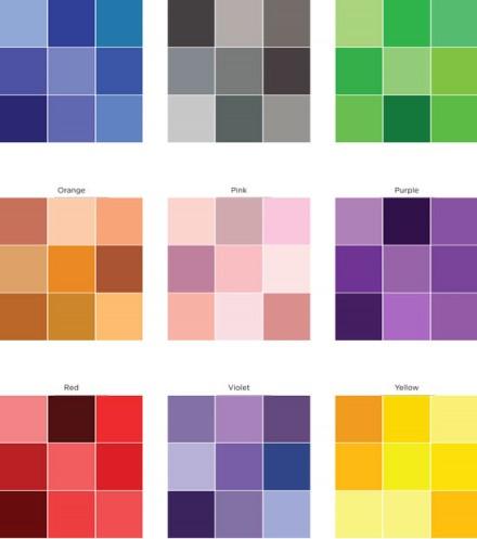 Freebie - Color Variation Sheet from Creating Keepsakes