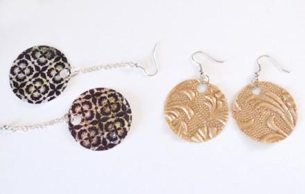 Tutorial - scrapbook paper earrings from dream a little bigger