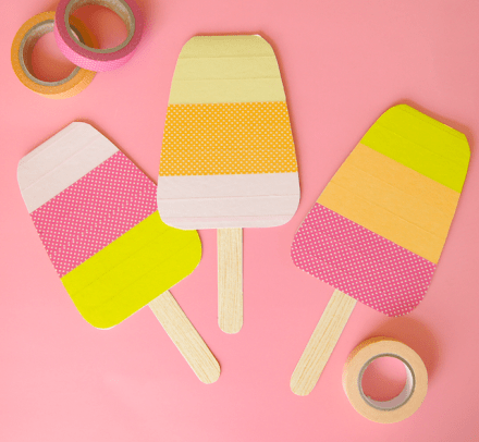 Tutorial - washi tape popsicle cards from Omiyage