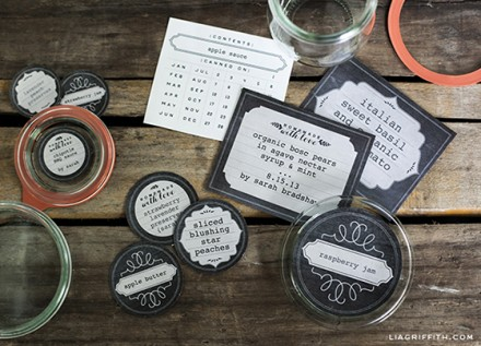 Freebie | Chalkboard Freezer and Canning Labels | Page Embellishments