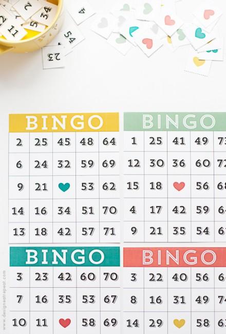 Freebie | Printable Bingo Cards and Numbers – Scrap Booking