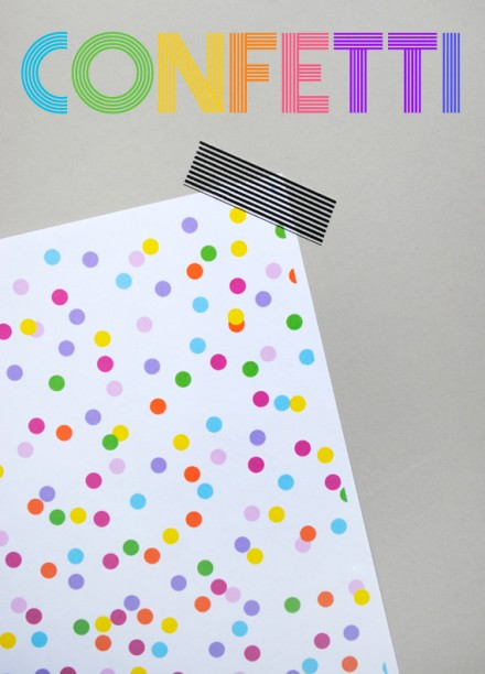 Freebie - Printable Confetti Paper from minieco