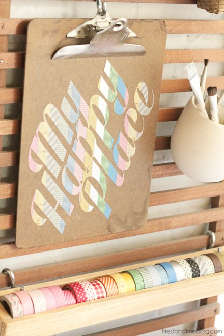 Tutorial - Washi Tape Stickers at tried and true