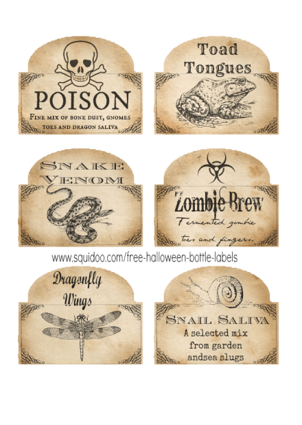Nerdy image for harry potter potion labels printable