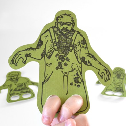 Freebie -zombie finger puppets from dream a little bigger