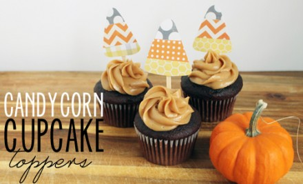 Tutorial - Candy-Corn-Cupcake-Toppers from Unusually Lovely