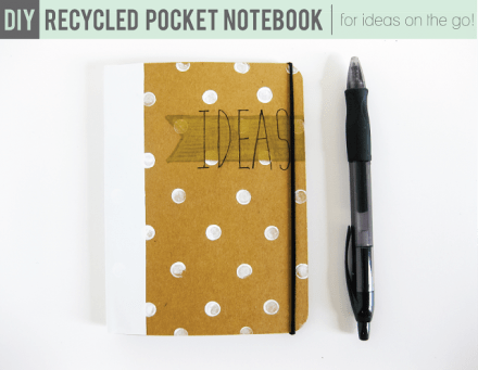 Tutorial - DIY Recycled Pocket Notebook
