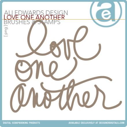 Freebie - Ali Edwards Love One Another Word Art