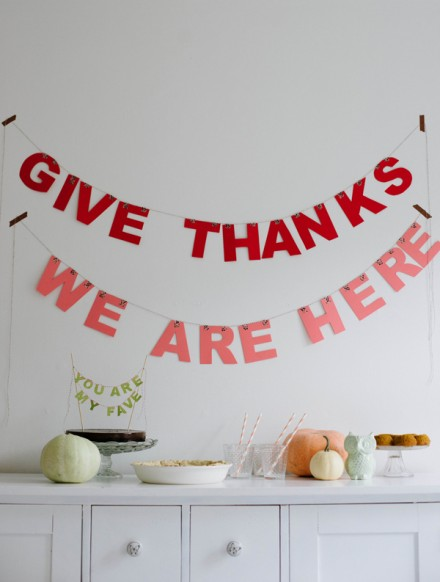 Tutorial - Easy Thanksgiving Lettered Garland by A Subtle Revelry