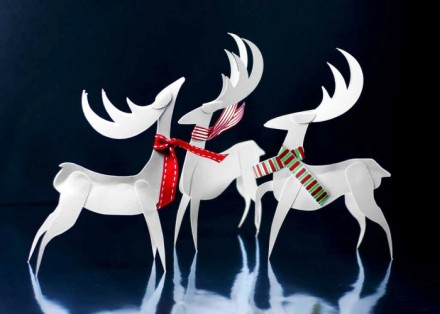 Freebie - Christmas Reindeer Paper Ornaments