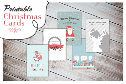 Freebie - printable Christmas Cards from Oh everything Handmade