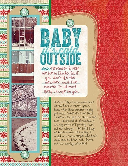 Inspiration du Jour - Baby It's Cold Outside