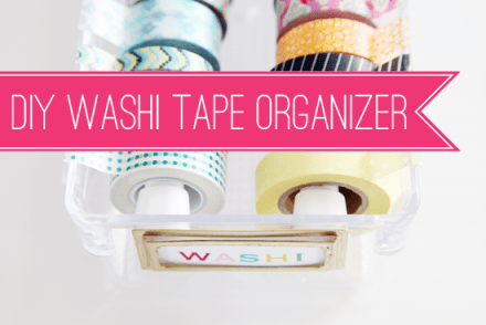 Tutorial - DIY Washi Tape Organizer
