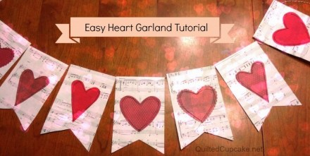 Tutorial - Heart Garland by Quilted Cupcake