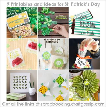 9 Ideas And Free Printables For St Patricks Day Scrap Booking