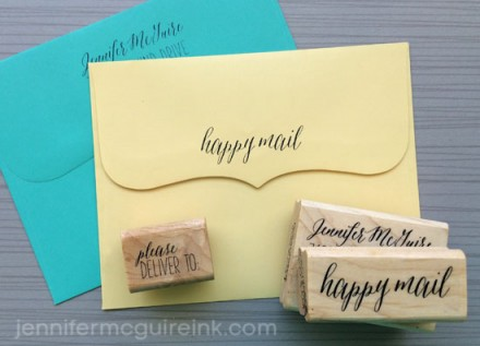 Giveaway - Personalized Stamps at Jennifer McGuire Ink