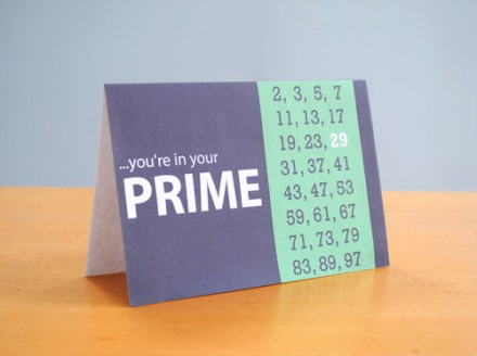 Freebie - Printable Prime Number Birthday Card