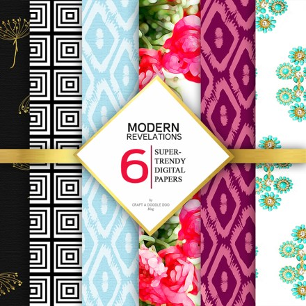 Freebie - modern revelations paper pack from Craft A Doodle Doo