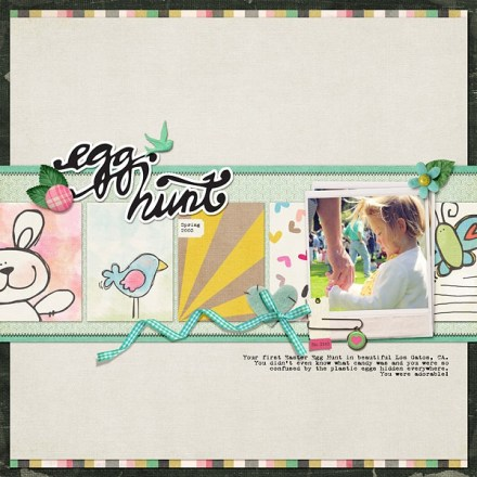 Inspiration du Jour - Egg Hunt by JennMcCabe
