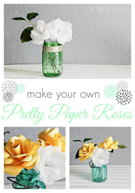 Tutorial - Make Paper Roses With Your Silhouette by Lil Miss Tori