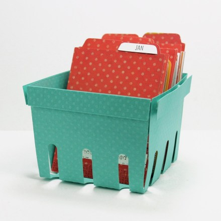 Freebie - Berry Basket Project Life Organizer Template