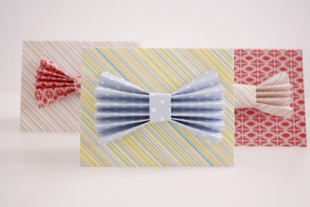 Tutorial - Scratch-off Bow-tie Father's Day Card from Delia Creates