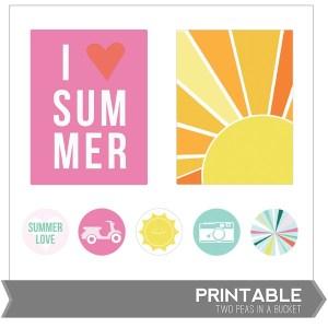 i_love_summer_printable