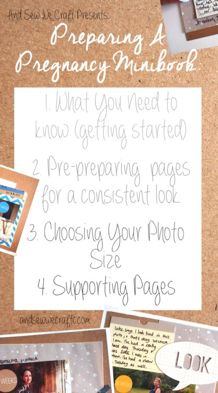 Show and tell - preparing a Pregnancy Minibook by And Sew We craft