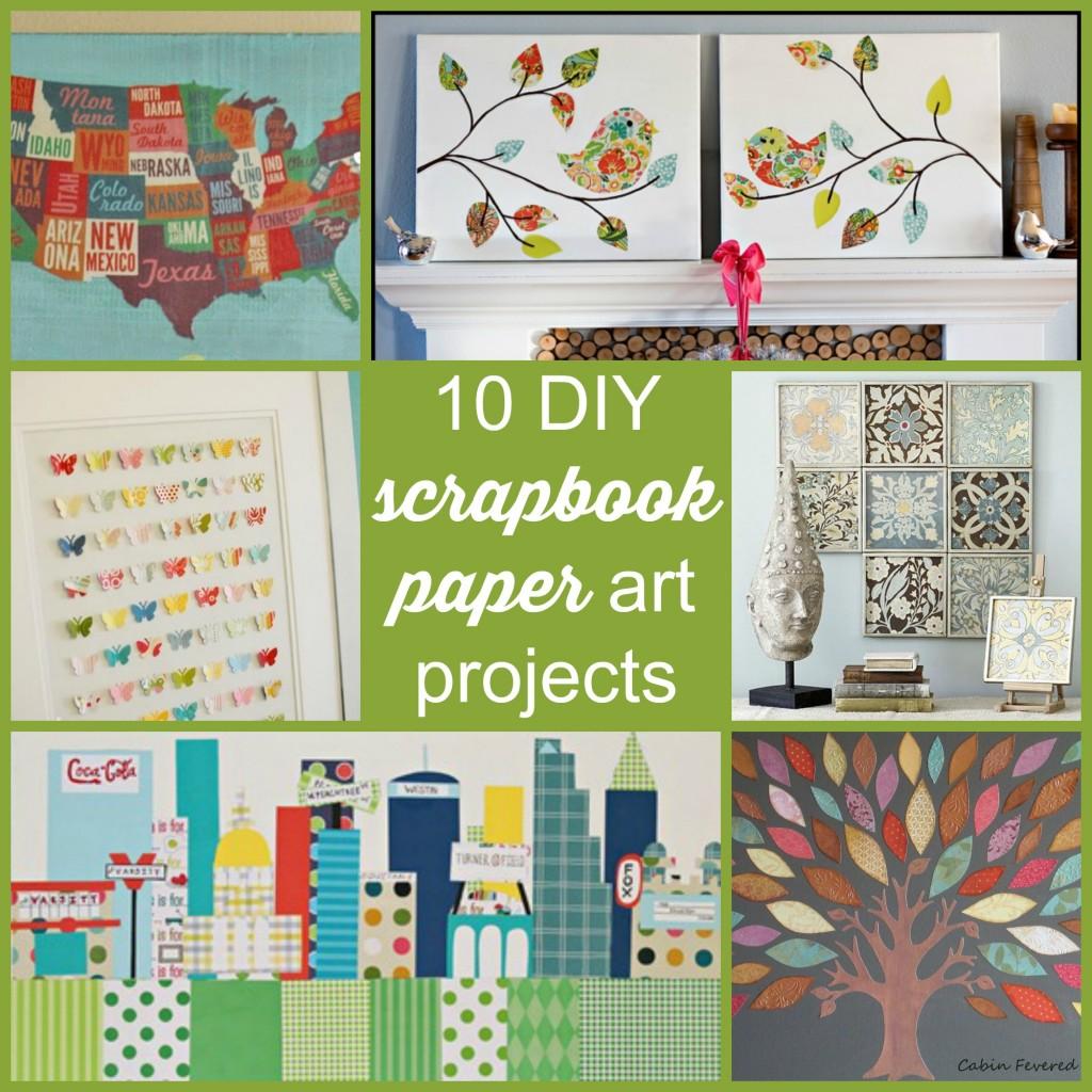 Scrapbook paper art projects - 10 Diy Scrapbook Paper Art Projects Scrap Booking 400x400