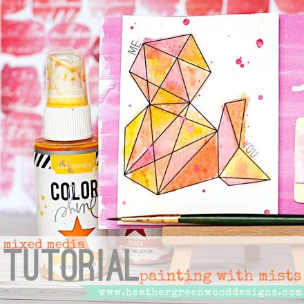 Tutorial - Painting With Inks by heather Greenwood