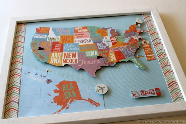 Show Tell USA Pin Map Track Your Travels Scrap Booking - Show nebraska on us map