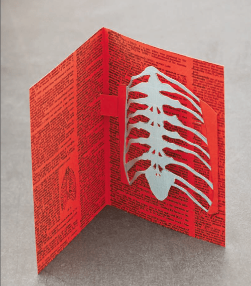 Tutorial - Skeleton Ribcage Pop-up Card by Craftside