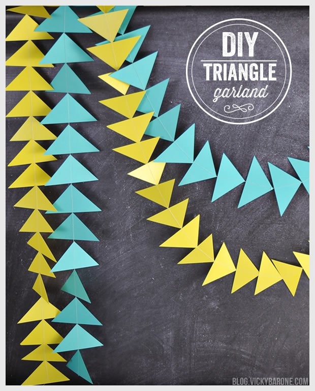 Tutorial - Triangle Garland from Scrapbook paper by Vicky Barine