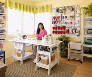 Leah Fung's ultra organized Scrapbook Room