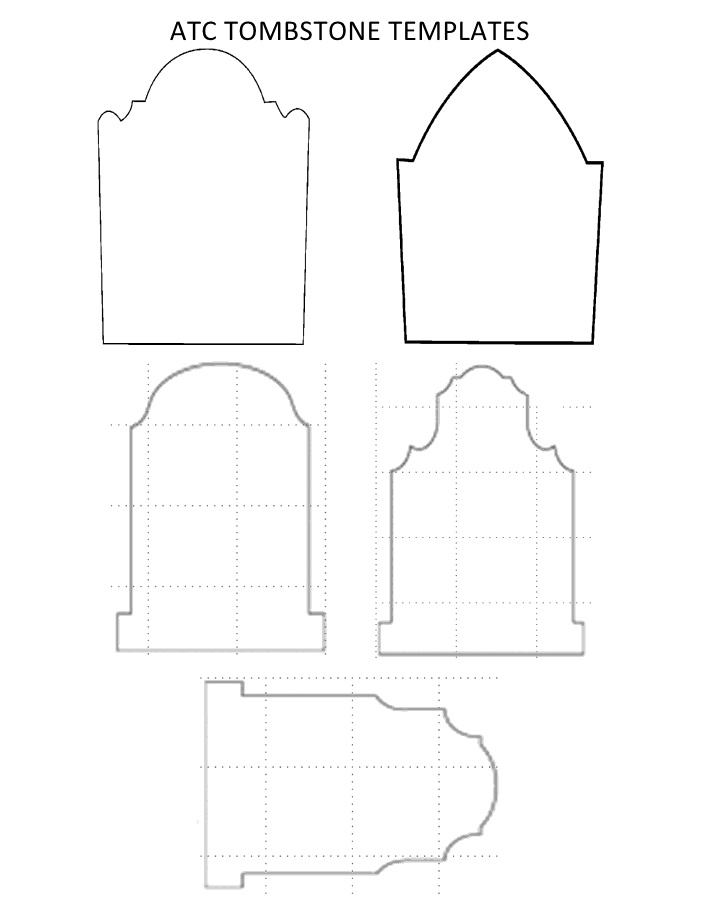 freebie 3 templates for halloween tombstones scrap booking