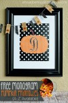 Freebie | Pumpkin Monograms for Fall & Thanksgiving Decor