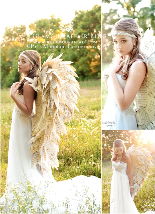 paper wings at A Glamour Affair