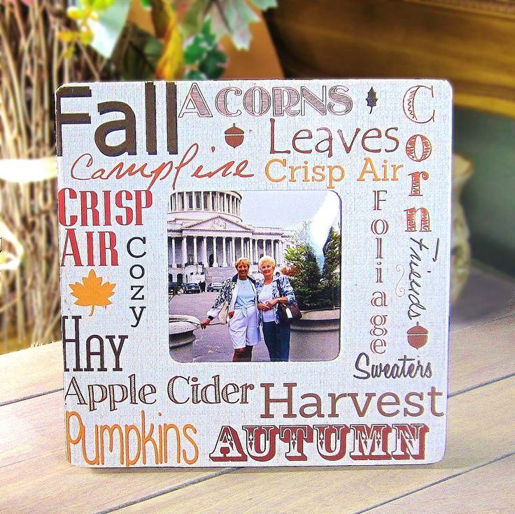 Autumn Decoupaged Frame from 365 Ideas