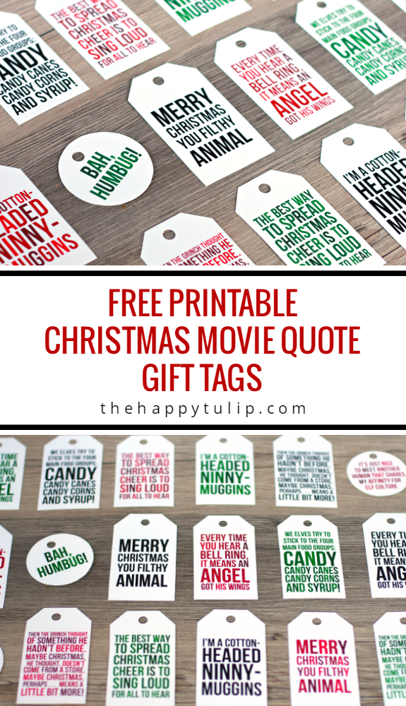 Freebie printable christmas movie quote gift tags scrap booking free printable christmas movie quote gift tags from thehappytulip negle Gallery