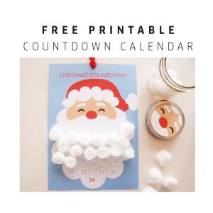 Freebie | Santa Claus Christmas Countdown Calendar