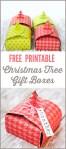 Freebie | Christmas Tree Gift Boxes