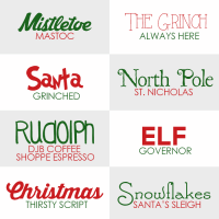 Freebie | Holiday Fonts
