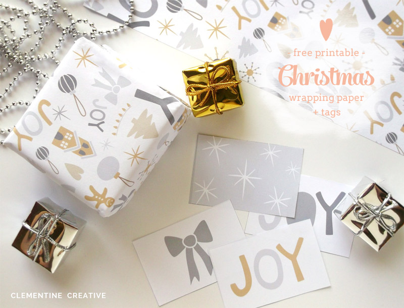 Freebie | Printable Christmas Wrapping Paper & Tags