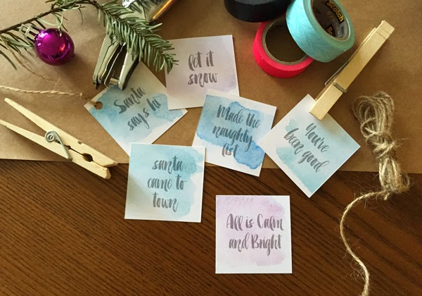 watercolor holiday Labels