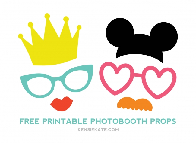 Refreshing image inside photo booth props printable templates