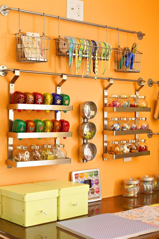 Bright Orange Statement Wall from BHG