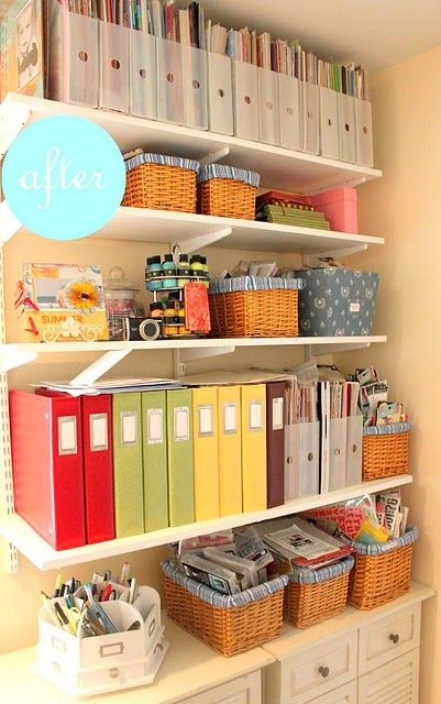 Colorful Binders for organization