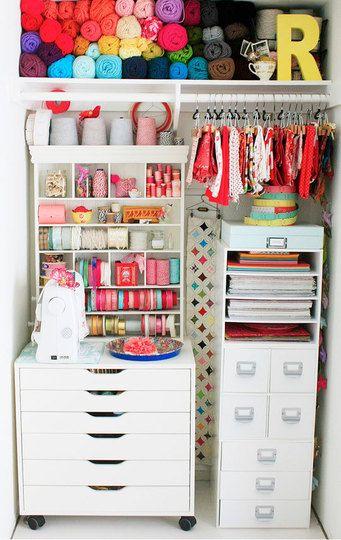 Debbie Campos colorful closet