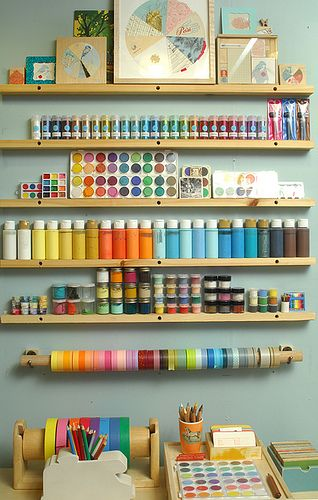 Wall of Colorful supplies