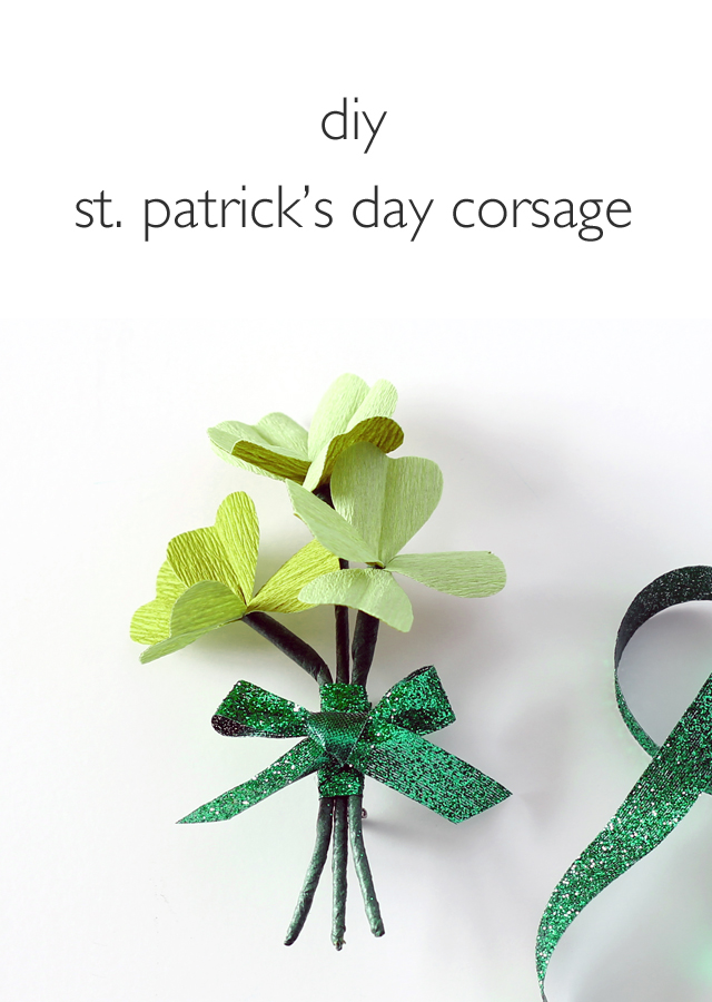 DIY St. Patrick's Day Corsage from Vitamini Handmade